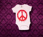 Baby Body kurzarm - PEACE - 0-3 Monate - Girl
