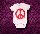 Baby Body kurzarm - PEACE - 3-6 Monate - Girl