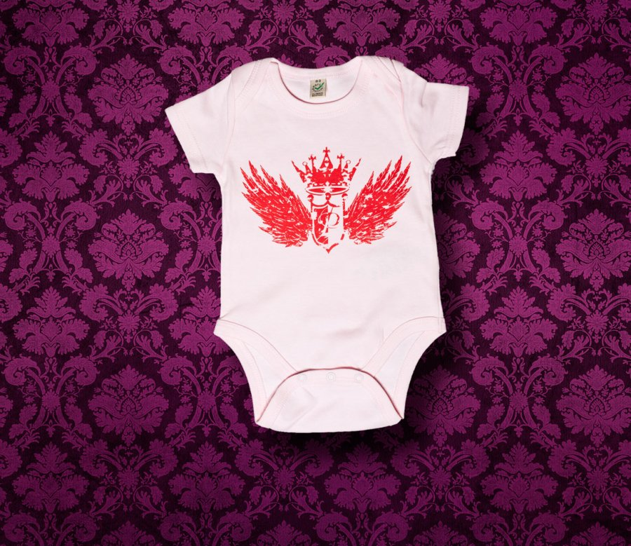 Baby Body kurzarm - FLÜGEL - 0-3 Monate - Girl