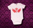 Baby Body kurzarm - FLÜGEL - 3-6 Monate - Girl
