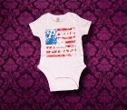 Baby Body kurzarm - Amerika - 0-3 Monate - Girl
