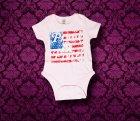 Baby Body kurzarm - Amerika - 0-3 Monate - Girl