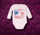 Babybody langarm - Amerika - 6 Monate - Girl