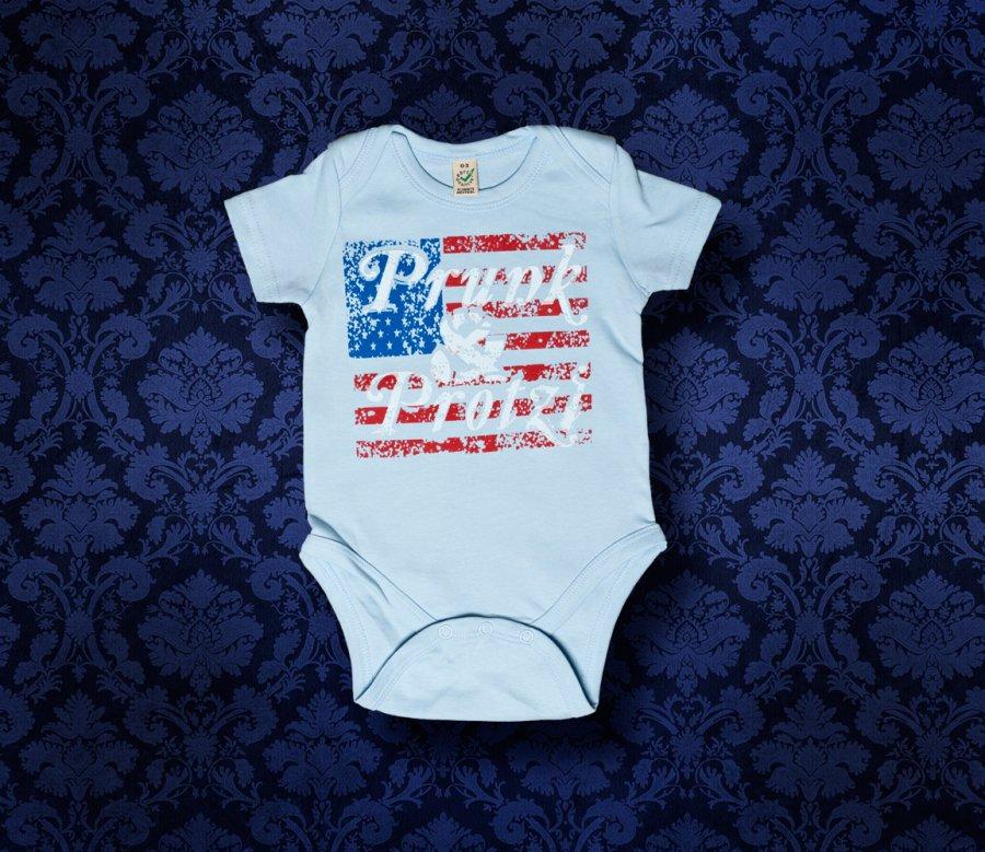 Baby Body kurzarm - Amerika - 0-3 Monate - Boy
