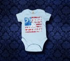 Baby Body kurzarm - Amerika - 0-3 Monate - Boy