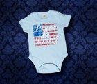 Baby Body kurzarm - Amerika - 3-6 Monate - Boy