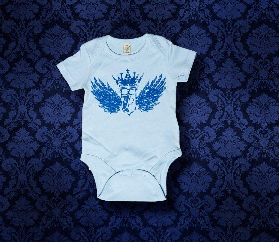 Baby Body kurzarm - FLÜGEL - 0-3 Monate - Boy