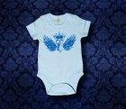 Baby Body kurzarm - FLÜGEL - 3-6 Monate - Boy