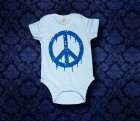 Baby Body kurzarm - PEACE - 3-6 Monate - Boy