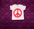 Baby Shirt kurzarm - PEACE - 0-3 Monate - Girl