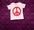 Baby Shirt kurzarm - PEACE - 3-6 Monate - Girl