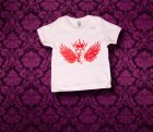 Baby Shirt kurzarm - Fluegel - 3-6 Monate - Girl