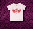 Baby Shirt kurzarm - Fluegel - 6-12 Monate - Girl