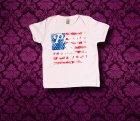 Baby Shirt kurzarm - Amerika - 6-12 Monate - Girl