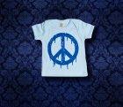 Baby Shirt kurzarm - PEACE - 0-3 Monate - Boy