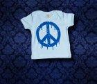 Baby Shirt kurzarm - PEACE - 3-6 Monate - Boy