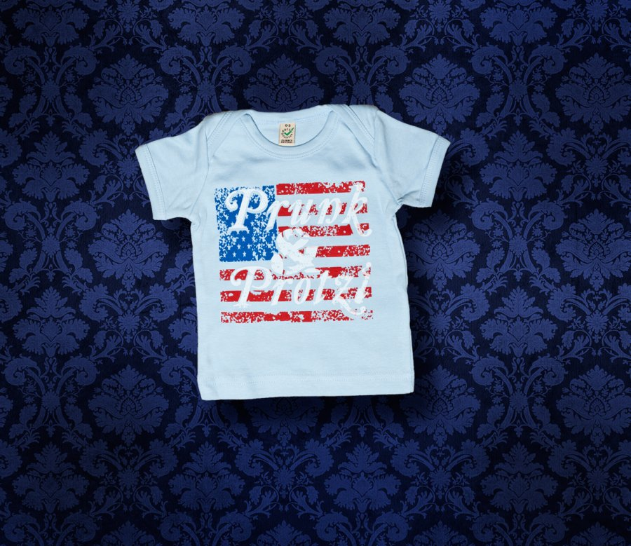 Baby Shirt kurzarm - America - 0-3 Monate - Boy