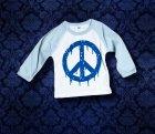 Baby Shirt Baseball langarm - PEACE - 6 Monate - Boy