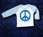 Baby Shirt Baseball langarm - PEACE - 12 Monate - Boy