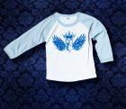 Baby Shirt Baseball langarm - Flügel - 12 Monate - Boy