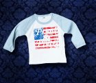 Baby Shirt Baseball langarm - America - 12 Monate - Boy