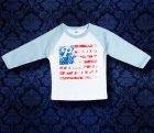 Baby Shirt Baseball langarm - America - 6 Monate - Boy